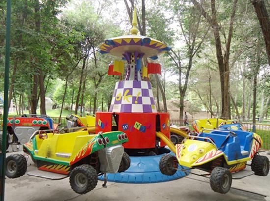 Funfair crazy car rides for fun
