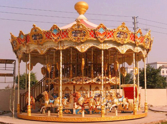 36 horses double layer carousel rides for sale