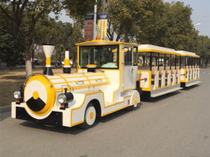 Electric trackless train rides for sale