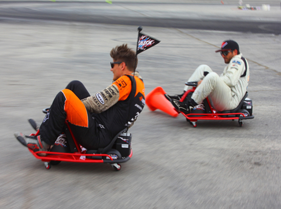 Drift racing cars on the raod