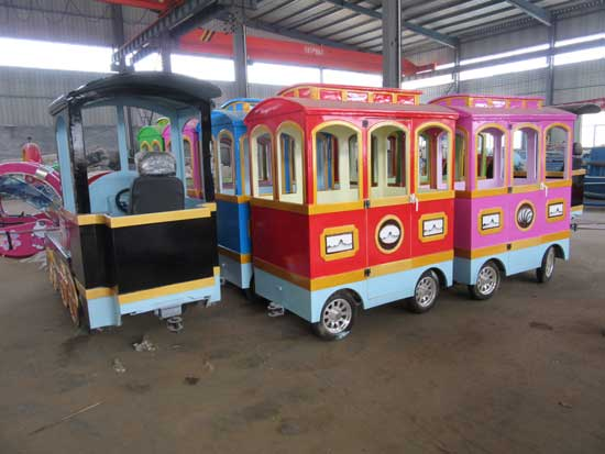 trackless train rides in stock