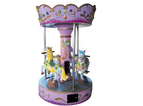 Mini carousel with 3 kids