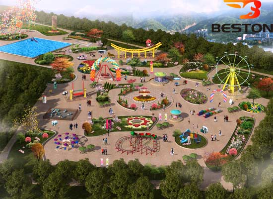 Outdoor Amusement Park Design With Logo Version 3