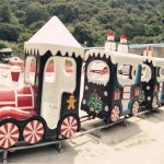 Amusement Park Christmas Track Train For Sale