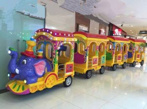 Amusement park elephant trackless trainr ides for sale