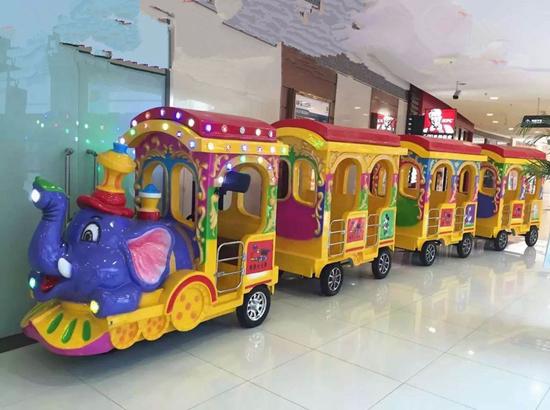 Amusement park elephant trackless trainr ides for sale