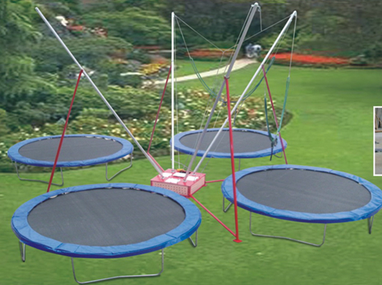 Delicieux Backyard Trampoline For Sale With 4 Seats