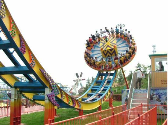 Amusement park disco rides