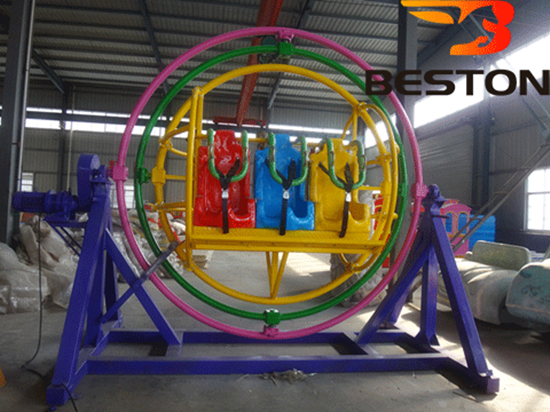 Amusement park 6 seat human gyroscope rides
