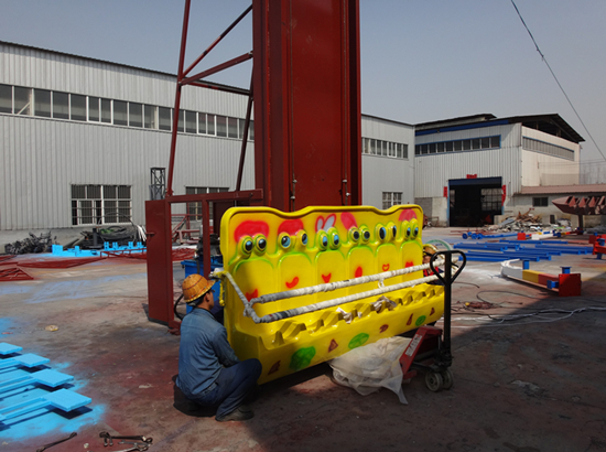 Frog hopper ride in our factory
