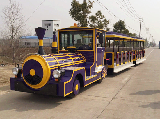 Electric train for amusement park