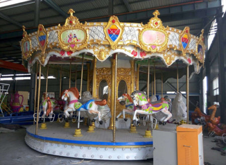 amusement park carousel rides in stock