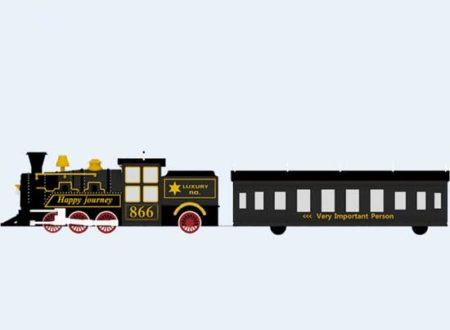 Black vintage train for kids