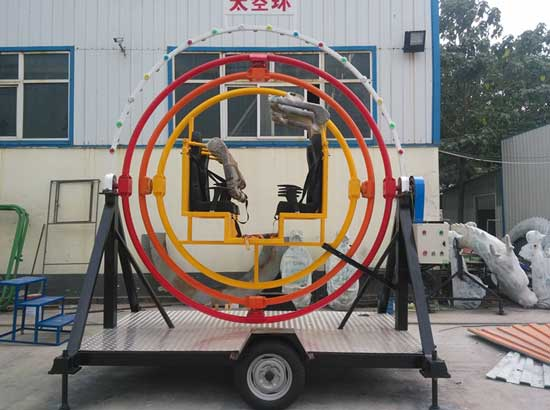 Mobile human gyroscope rides for sale