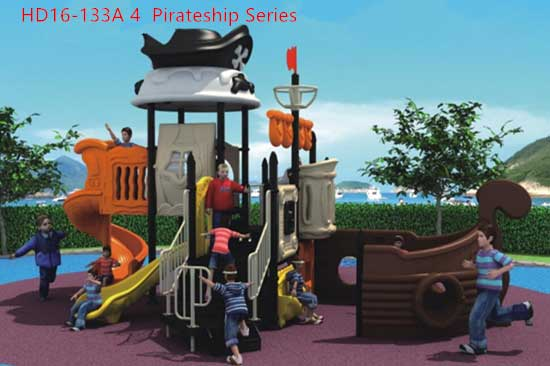 Commercial playground equipment- pirate ship theme