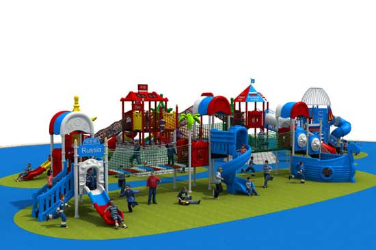Kid Outdoor Commercial Grade Playground Equipment