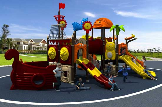 Pirate Ship Commercial Playground Equipment for Sale