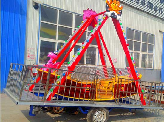 Pirate ship rides, portable model