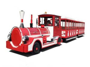 Red tourist road train for sale