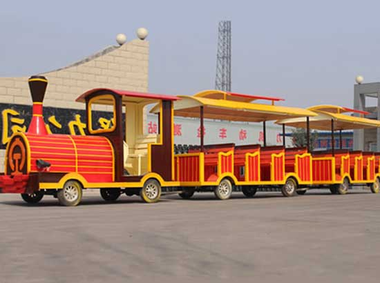 Wooden themed tourist train rides for amusement park