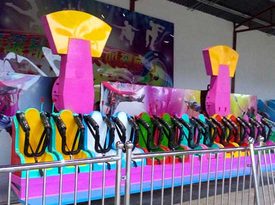 Miami funfair ride with 12 seats for kids