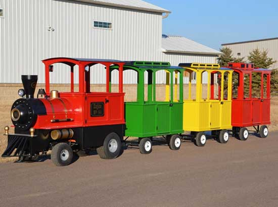 Small trackless train rides manufacturer