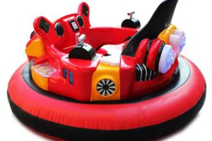 Red inflatable bumper cars for sale