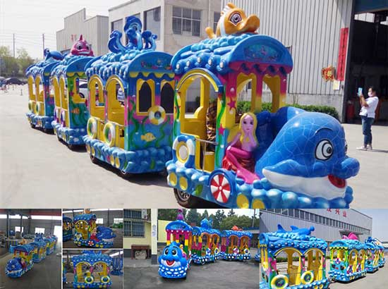 Ocean Theme Trackless Train Manufacturer