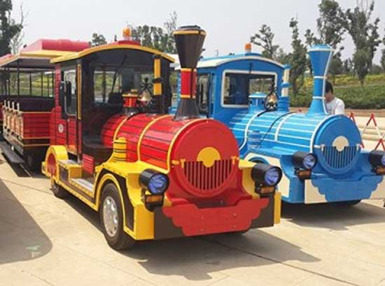 Shopping mall trackless trains for sale with different colors