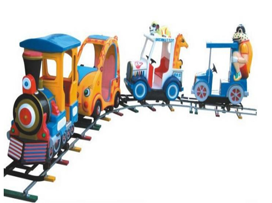 Electric track trains for parks