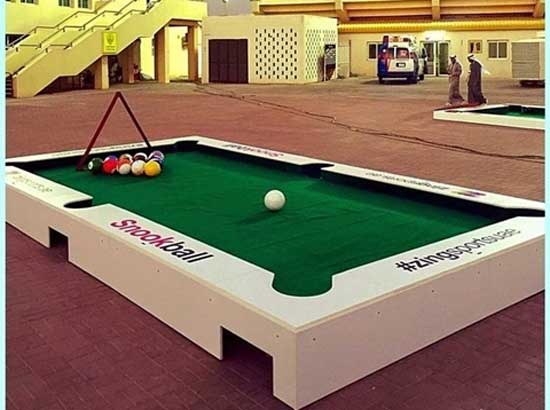 Grand Type - White Snookball Table for Sale