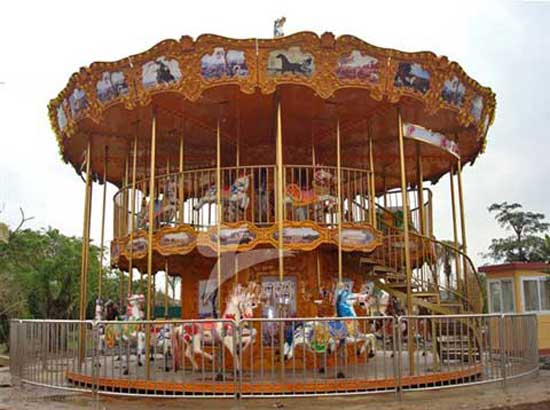 48 Seat Double Deck Carousel Rides for Sale