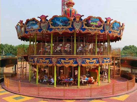48 Seat Double Decker Carousel Rides