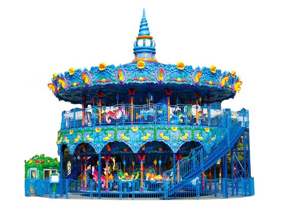 68 Seat Double Decker Carousel Rides for Sale