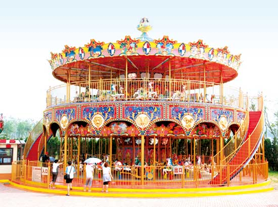 88 Seat Double Decker Carousel Rides for Sale