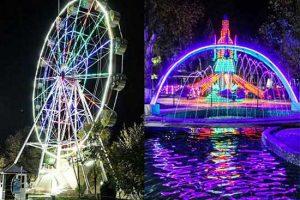 Ferris Wheel Rides and Kiddie Self Control Plane Rides In Uzbekistan Theme Park