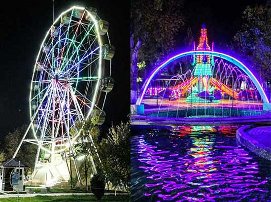 Ferris Wheel Rides and Kiddie Self Control Plane Rides In Uzbekistan Theme Park