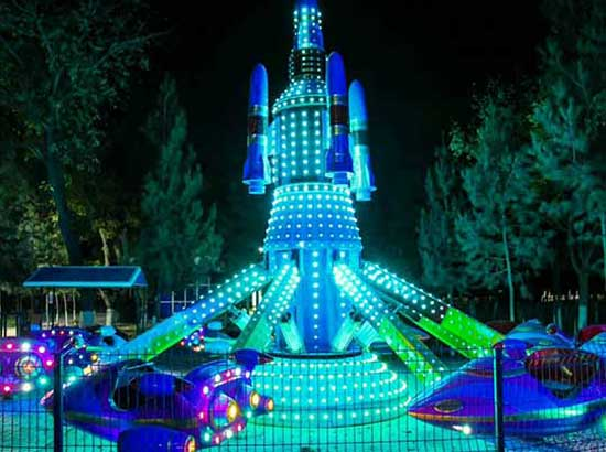 Self-control plane rides for kids in Uzbekistan Theme Park