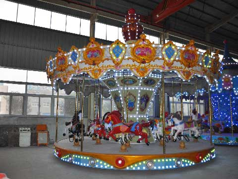 16-Seat Amusement Park Carousel Rides for Sale