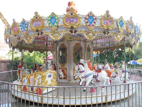 24-Seat Amusement Park Carousel Rides for Sale