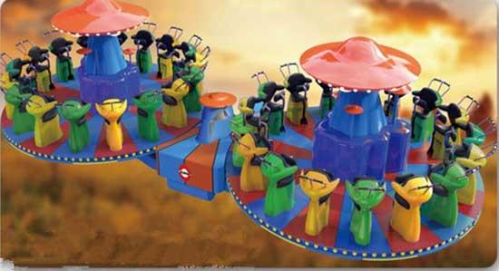 W Shape Coaster Rides