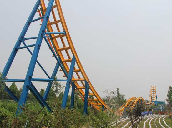 W Shape Track of The Coaster