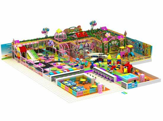 Large Kids Area Indoor Playground Equipment