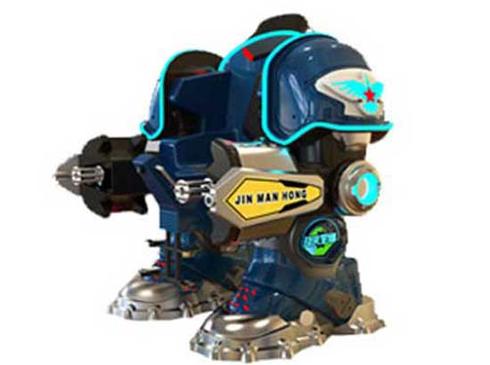 Blue Coin Operated Robot Rides for Kids