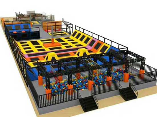 New Trampoline Park Equipment
