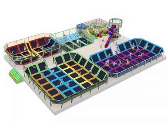 Large Trampoline Park Equipment for Sale