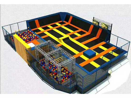 Big Trampoline Park Equipment