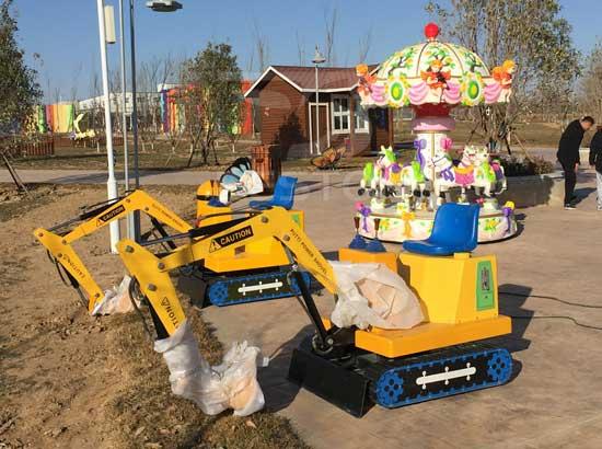 Cases of Beston Kids Excavator Rides